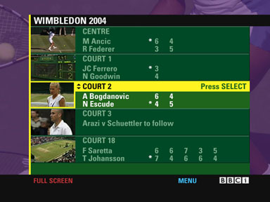 Wimbledon Interactive Mosaic on Satellite