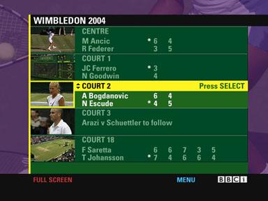 Wimbledon Interactive Mosaic on Satellite
