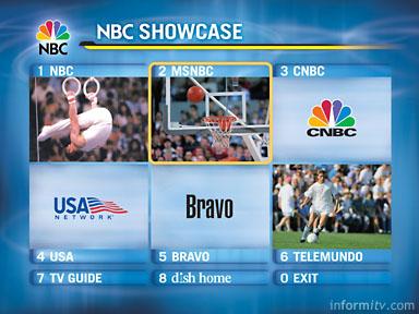 Olympics Showcase screen