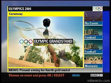 Olympics multiscreen