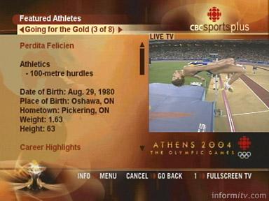 CBC Sports Plus screen