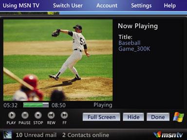 MSN TV 2 Media Player