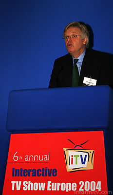 BBC Chairman Michael Grade speaking at the Interactive TV Show Europe in Barcelona. Photo: informitv