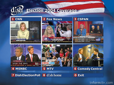 DISH Network Election 2004 Coverage