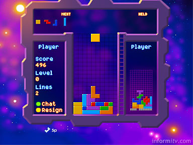 Tetris(TM) Liveplay application by Denki on Sky Gamestar