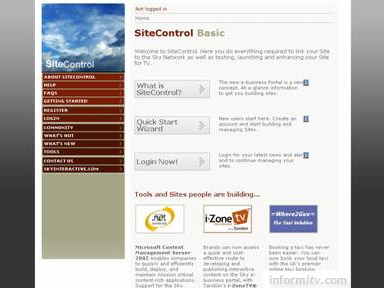 SiteControl service used to manage the Sky e-business portal. Image: BSkyB