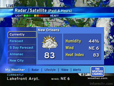 Weather Channel interactive application
