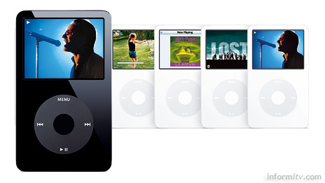 Apple iPod video line-up, Image: Apple