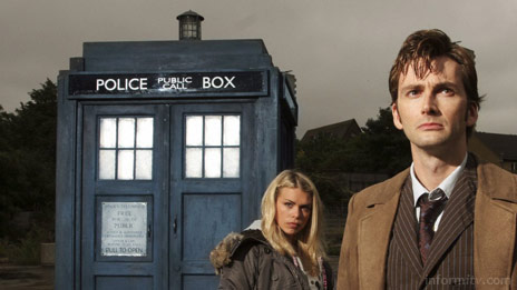 Doctor Who, featuring David Tennant as The Doctor and Billie Piper as his assistant, Rose Tyler. Photo: BBC, Mike Hogan