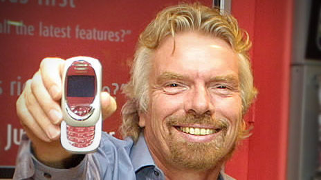 Sir Richard Branson of Virgin Group, which is considering an offer from NTL for Virgin Mobile.