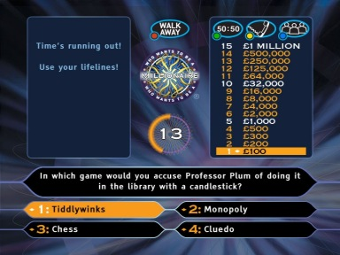 Two Way TV is to create an interactive game based on the Celador property Who Wants to be a Millionaire for the NTL and Telewest cable television platforms in the UK.