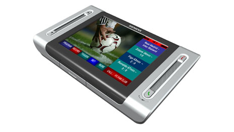 Touch screen DVB-H mobile interactive television concept device from Siemens, Image: Siemens