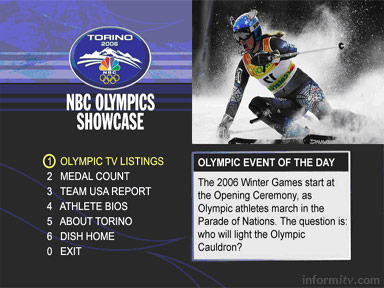 EchoStar Winter Olympics enhanced television application created by PixelPlay