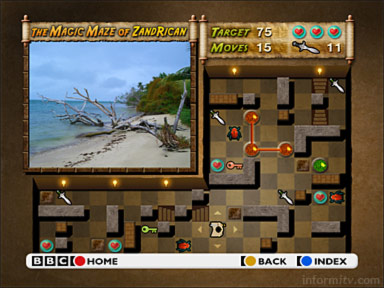 The Magic Maze of ZandRican, an interactive television maze game developed by Two Way TV for the BBC CBBC channel.