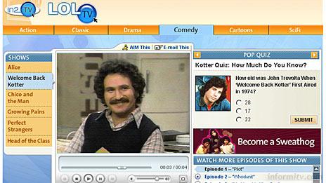 AOL In2TV broadband video service.
