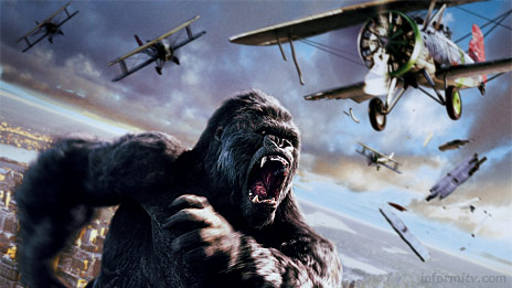 The box office blockbuster King Kong will be one of the first movies available as movie giant Universal Pictures launches digital downloads to own through Lovefilm in the UK. Image © Universal Pictures.