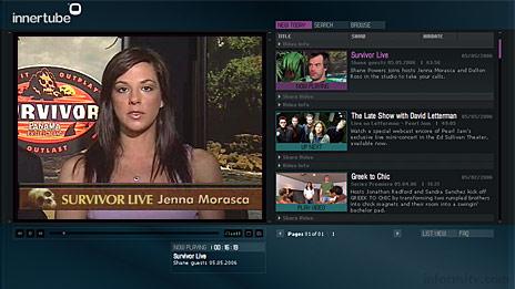 CBS Innertube broadband channel on CBS.com.
