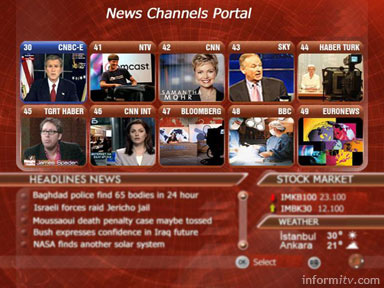 Example httv mosaic multiscreen news service.