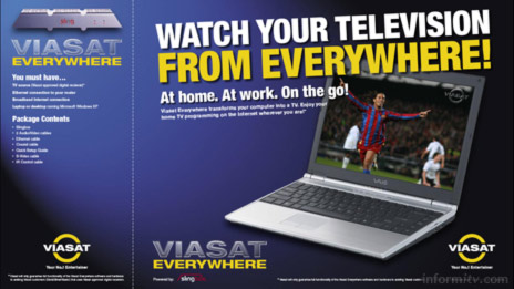 Packaging for the Viasat Everywhere version of the Sling Media Slingbox, sold in Scandanavia.