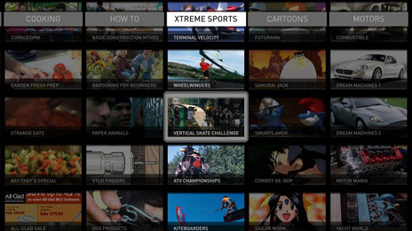 On-demand grid. Image: OpenTV.
