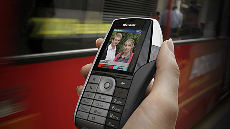 BT Movio provides platform for Virgin Mobile TV, seen here in an image of an HTC Lobster handset. Photo: VisMedia.