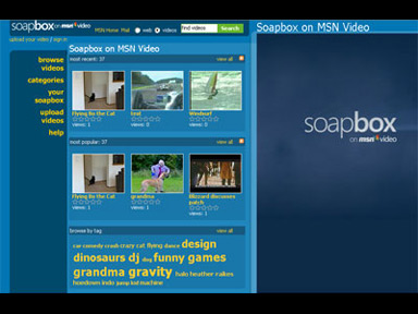 Microsoft Soapbox shares similar features with other user-contributed video sites such as YouTube.