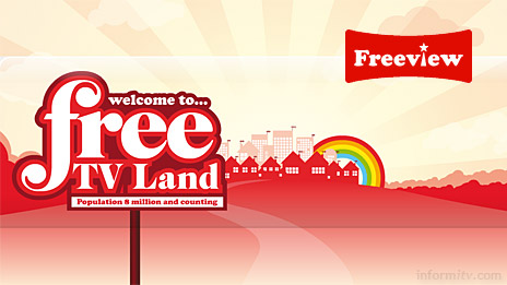 Freeview promotes new Free TV Land with a new identity.