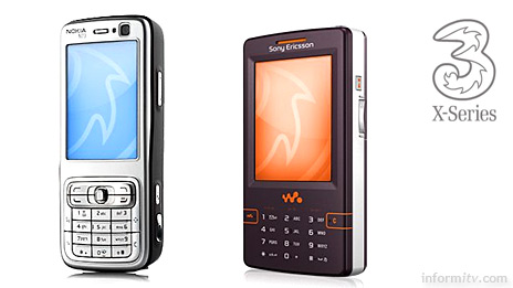 Mobile network operator 3 offers mobile broadband including video for flat fee. The first handsets to support the service will be the Nokia N73 and the Sony Ericsson W950i Walkman phone.