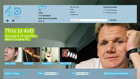 4oD, the Channel 4 broadband video download service.