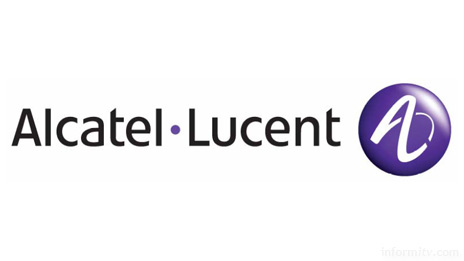 Alcatel and Lucent unite with a new logo, a stylised infinity symbol that combines the A and the L of their respective names.