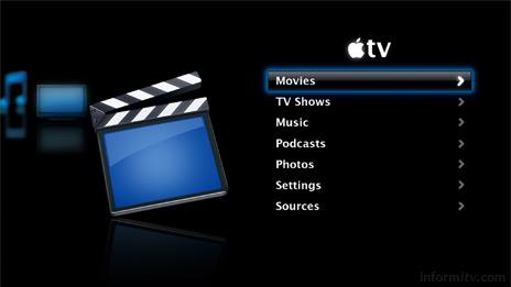 The Apple TV user interface.