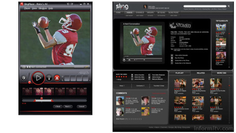 Sling Media has announced a Clip+Sling system to allow its customers to share video clips over the internet. CBS is partnering with Sling Media in a trial.