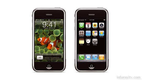 The Apple iPhone claims to reinvent the telephone with a touchscreen interace and integrated media, web and email browser that are claimed to be years ahead of the competition.