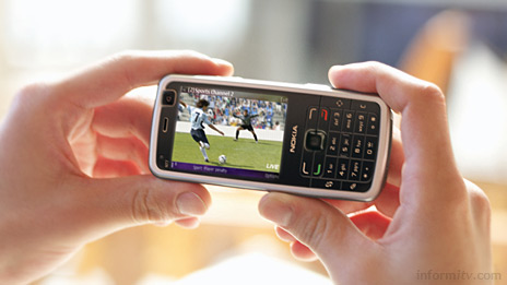 Nokia is pushing mobile television with new handsets such as the N77 which has support for DVB-H mobile television.