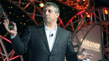 Blake Krikorian, the chief executive of Sling Media at NAB 2007. Photo: NAB.
