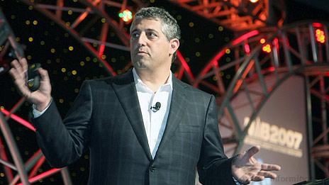 Blake Krikorian, the chief executive of Sling Media at NAB 2007. Photo: NAB.