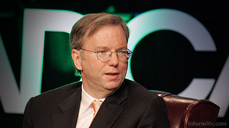 Eric Schmidt, the chief executive of Google at NAB 2007. Photo: NAB.