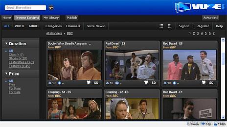 The Azureus Vuze application provides a peer-to-peer broadband video distribution platform..