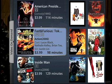 Verizon FiOS Interactive Media Guide video-on-demand titles.