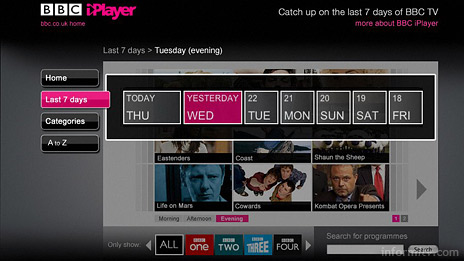 The BBC iPlayer application allows users to download programmes from the last seven days.