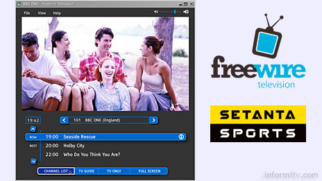 Freewire TV will include Setanta Sports 1 in its bundle of premium channels.
