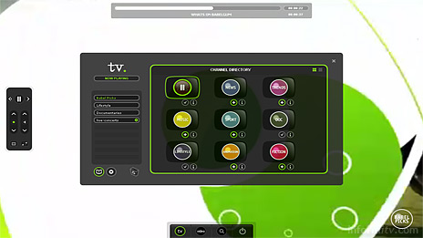 Babelgum is a broadband video platform. Users can also create their own channels based on keywords.