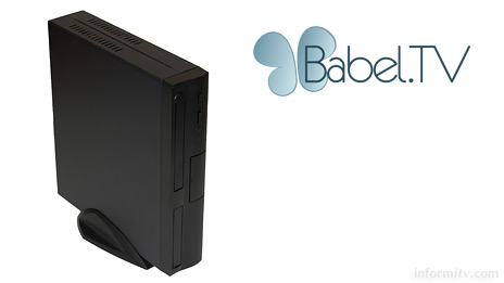 Babel TV provides a low-cost integrated black box solution for recording television and basic computing requirements.