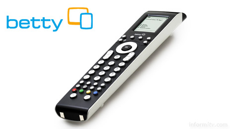 The Betty TV remote control contains a small display screen and sends data to a box connected to the telephone line to enable viewers to participate with certain programmes.