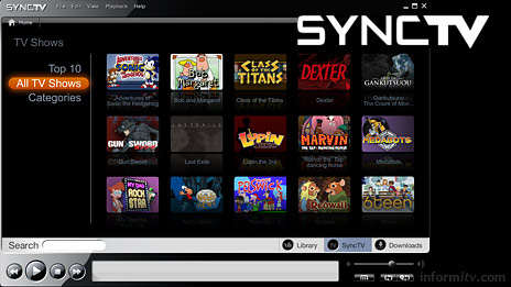 The SyncTV application promises an open platform for programme downloads.