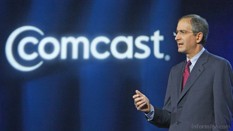 Brian Roberts, the chief executive of Comcast, delivering a keynote address at the International CES 2008.