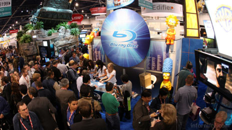 Blu-ray appeared to be gaining ground at the International CES in Las Vegas.