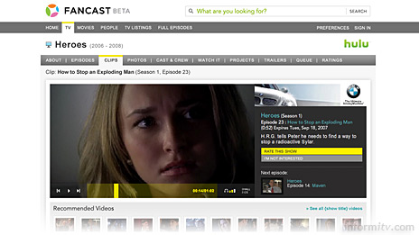 Fancast, the broadband video site from Comcast.