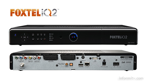 The Foxtel iQ2 digital video recorder will be used to deliver the Foxtel HD+ service.