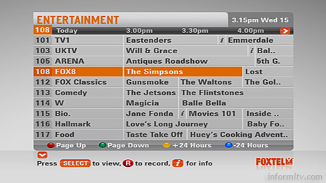 channel 4 australia tv guide